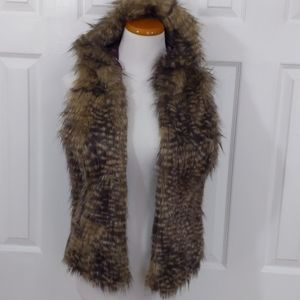 Mossimo Faux Fur Vest with hoodie size m